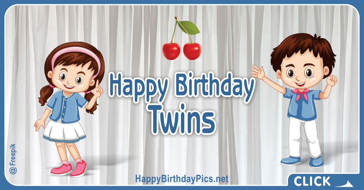 Happy Birthday Twin Siblings Card Equivalents