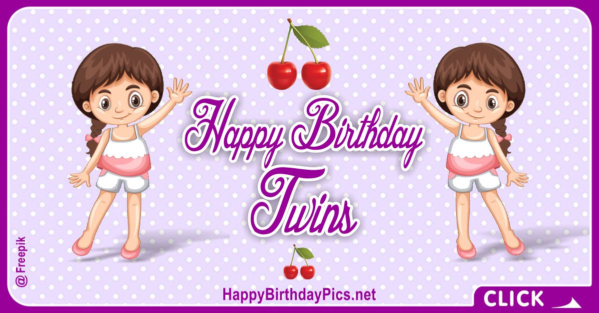 Happy Birthday Twin Sisters Card Equivalents