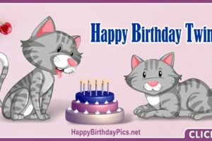 Happy Birthday Twin Kittens