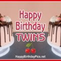 Happy Birthday with Twin Cakes