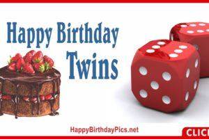 Happy Birthday Double Dice Twins