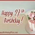 Happy 27th Birthday with Pastel Theme