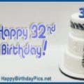 Happy 32nd Birthday Cake with Necktie