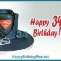 Happy 34th Birthday with Superman Theme