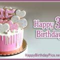 Happy 35th Birthday with Hearts