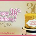 Happy 36th Birthday with Pink Gold Theme