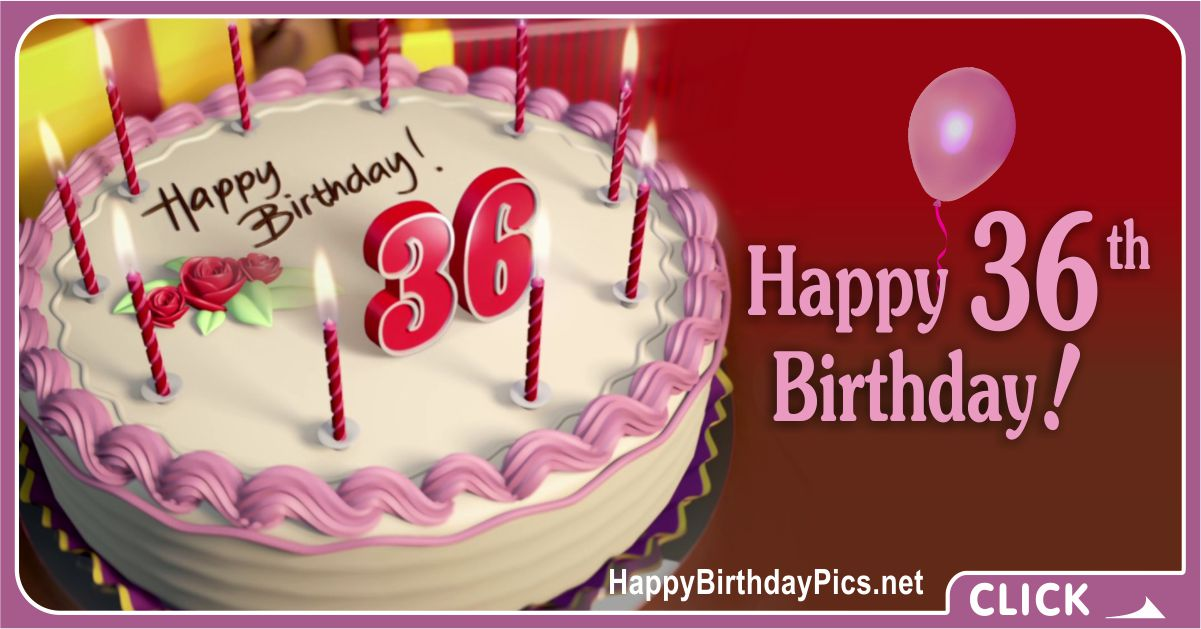 Happy 36th Birthday with Ruby Theme Card Equivalents