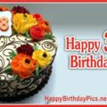 Happy 38th Birthday with Colorful Flowers