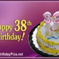 Happy 38th Birthday with Colorful Balloons
