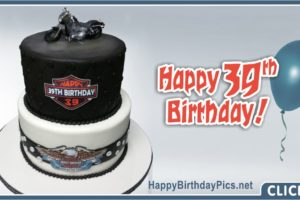 Happy 39th Birthday with Harley Davidson Motorcycle
