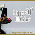 Happy 40th Birthday with Gold Tuxedo