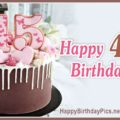 Happy 45th Birthday with Pink Hearts