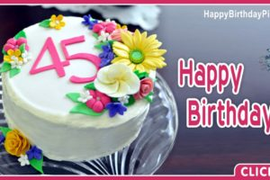 Happy 45th Birthday with Floral Design