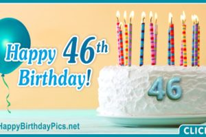 Happy 46th Birthday with Turquoise Theme
