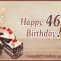 Happy 46th Birthday with Ruby Sequence