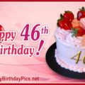Happy 46th Birthday with Ruby Gold Design