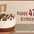 Happy 47th Birthday with Pearl Grains