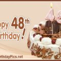 Happy 48th Birthday with Chocolate Crumbs