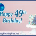Happy 49th Birthday with Blue-Jean Pattern