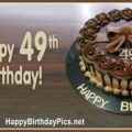 Happy 49th Birthday with Brown Pearls