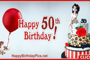 Happy 50th Birthday with Leopard Diamond Pattern