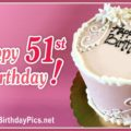 Happy 51st Birthday with White Embroidery