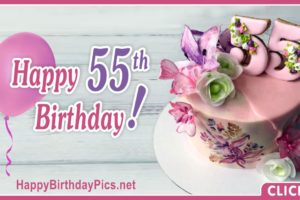 Happy 55th Birthday with Floral Design