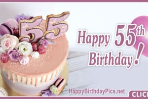 Happy 55th Birthday with Purple Design