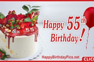 Happy 55th Birthday with Ruby Design