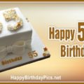 Happy 55th Birthday with Gold Ribbon
