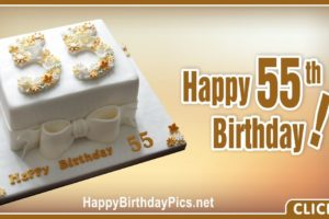 Happy 55th Birthday with Gold Ribbon