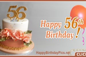 Happy 56th Birthday with Pink Roses