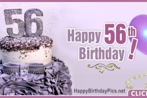 Happy 56th Birthday with Purple Diamonds