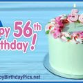 Happy 56th Birthday with Green Cake