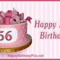 Happy 56th Birthday with Diamond Pattern