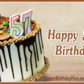 Happy 57th Birthday with Chocolate Basket