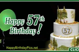 Happy 57th Birthday with Green Emerald