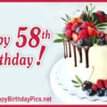 Happy 58th Birthday with Ruby Fruits