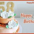 Happy 58th Birthday with White Roses