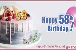 Happy 58th Birthday with Fig Cake