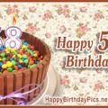 Happy 58th Birthday with Candy Basket
