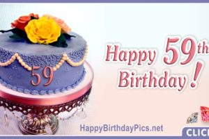 Happy 59th Birthday with Pearl Cake