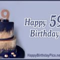 Happy 59th Birthday with Navy Blue Theme