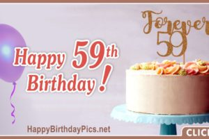 Happy 59th Birthday with Forever Wishes