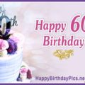Happy 60th Birthday with Violet Macarons