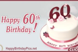 Happy 60th Birthday with Pink Roses