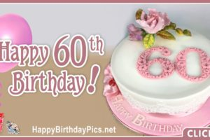 Happy 60th Birthday with Pink Diamonds