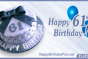 Happy 61st Birthday with Diamond Pattern
