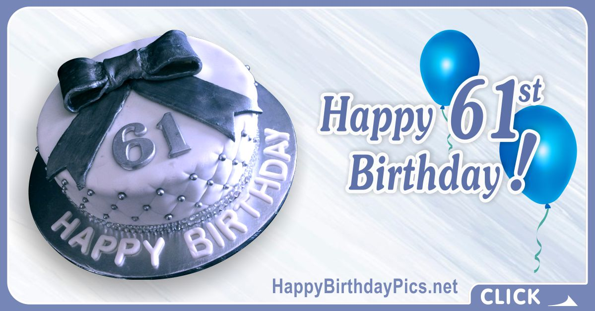 Happy 61st Birthday with Diamond Pattern Card Equivalents