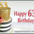 Happy 63rd Birthday with Gold Chocolate